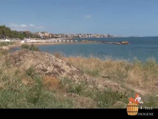 Cumuli di sfalci e potature a ridosso del litorale dopo la pulizia per la processione mariana